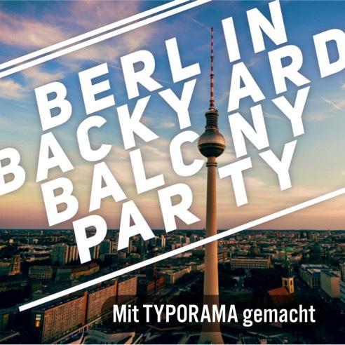 BERLIN BACKYARD BALCONY PARTY